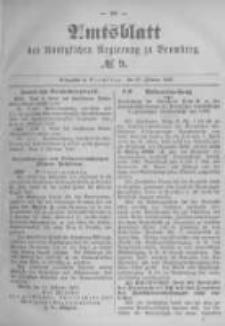 Amtsblatt der Königlichen Preussischen Regierung zu Bromberg. 1896.02.27 No.9