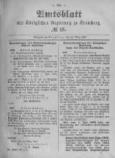 Amtsblatt der Königlichen Preussischen Regierung zu Bromberg. 1896.03.26 No.13