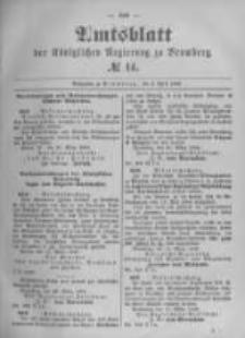 Amtsblatt der Königlichen Preussischen Regierung zu Bromberg. 1896.04.02 No.14