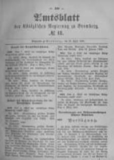 Amtsblatt der Königlichen Preussischen Regierung zu Bromberg. 1896.04.30 No.18