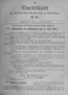 Amtsblatt der Königlichen Preussischen Regierung zu Bromberg. 1896.06.18 No.25
