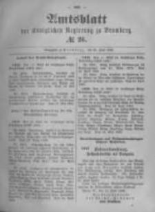 Amtsblatt der Königlichen Preussischen Regierung zu Bromberg. 1896.06.25 No.26