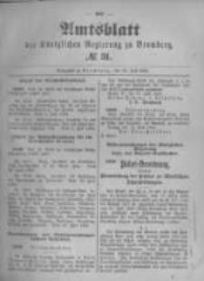 Amtsblatt der Königlichen Preussischen Regierung zu Bromberg. 1896.07.30 No.31