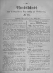 Amtsblatt der Königlichen Preussischen Regierung zu Bromberg. 1896.08.06 No.32