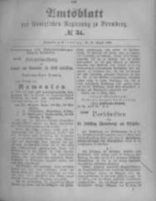 Amtsblatt der Königlichen Preussischen Regierung zu Bromberg. 1896.08.20 No.34