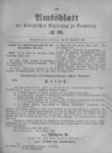 Amtsblatt der Königlichen Preussischen Regierung zu Bromberg. 1896.09.24 No.39