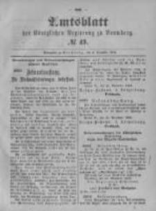 Amtsblatt der Königlichen Preussischen Regierung zu Bromberg. 1896.12.03 No.49