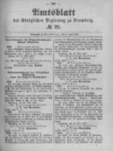 Amtsblatt der Königlichen Preussischen Regierung zu Bromberg. 1897.06.03 No.22