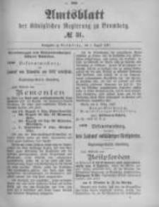 Amtsblatt der Königlichen Preussischen Regierung zu Bromberg. 1897.08.05 No.31