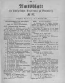 Amtsblatt der Königlichen Preussischen Regierung zu Bromberg. 1897.09.16 No.37
