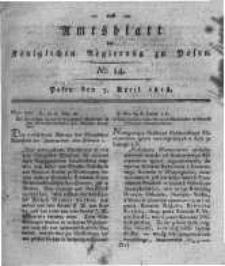 Amtsblatt der Königlichen Regierung zu Posen. 1818.04.07 Nro.14