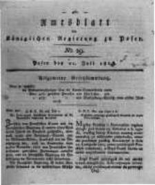 Amtsblatt der Königlichen Regierung zu Posen. 1818.07.21 Nro.29