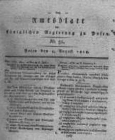 Amtsblatt der Königlichen Regierung zu Posen. 1818.08.04 Nro.31