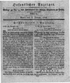 Oeffentlicher Anzeiger. 1818.01.06 Nro.1