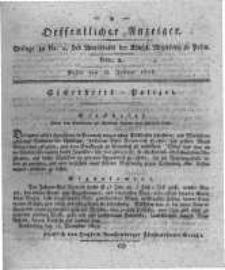 Oeffentlicher Anzeiger. 1818.01.13 Nro.2