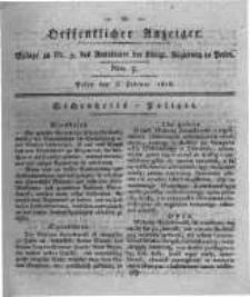 Oeffentlicher Anzeiger. 1818.02.03 Nro.5