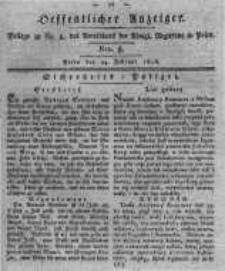 Oeffentlicher Anzeiger. 1818.02.24 Nro.8