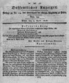 Oeffentlicher Anzeiger. 1818.04.07 Nro.14