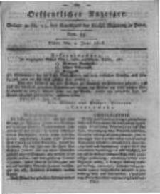 Oeffentlicher Anzeiger. 1818.06.09 Nro.23