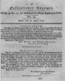 Oeffentlicher Anzeiger. 1818.06.16 Nro.24