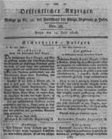 Oeffentlicher Anzeiger. 1818.07.14 Nro.28