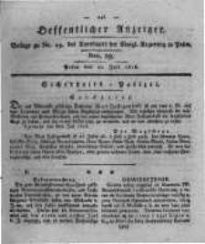 Oeffentlicher Anzeiger. 1818.07.21 Nro.29
