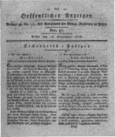 Oeffentlicher Anzeiger. 1818.09.15 Nro.37