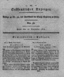Oeffentlicher Anzeiger. 1818.09.22 Nro.38