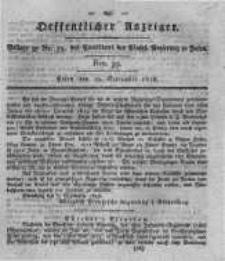 Oeffentlicher Anzeiger. 1818.09.29 Nro.39