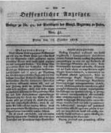 Oeffentlicher Anzeiger. 1818.10.13 Nro.41