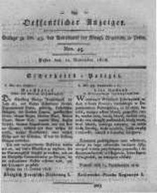 Oeffentlicher Anzeiger. 1818.11.10 Nro.45