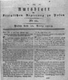 Amtsblatt der Königlichen Regierung zu Posen. 1819.03.16 Nro.11