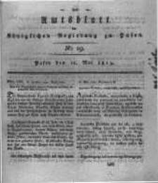 Amtsblatt der Königlichen Regierung zu Posen. 1819.05.11 Nro.19