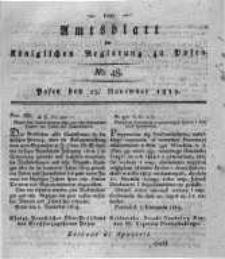 Amtsblatt der Königlichen Regierung zu Posen. 1819.11.23 Nro.48