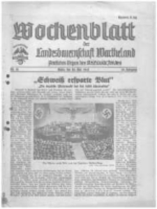 Wochenblatt der Landesbauernschaft Wartheland: amtliches Organ des Reichsnährstandes. 1941.05.10 Jg.39 nr19