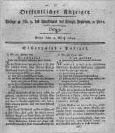 Oeffentlicher Anzeiger. 1819.02.30 Nro.9