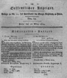 Oeffentlicher Anzeiger. 1819.03.23 Nro.12