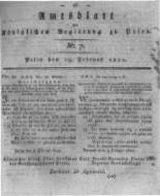Amtsblatt der Königlichen Regierung zu Posen. 1820.02.15 Nro.7