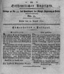 Oeffentlicher Anzeiger. 1820.08.15 Nro.33