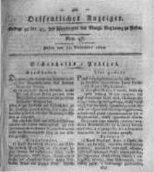 Oeffentlicher Anzeiger. 1820.11.21 Nro.47