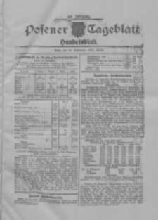 Posener Tageblatt. Handelsblatt 1909.09.30 Jg.48
