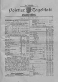 Posener Tageblatt. Handelsblatt 1909.10.15 Jg.48