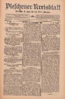 Pleschener Kreisblatt: Amtlicher Anzeiger für den Kreis Pleschen 1912.09.25 Jg.60 Nr77