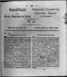 Amtsblatt der Königlichen Regierung zu Posen. 1821.07.24 Nro.30