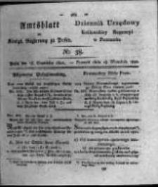 Amtsblatt der Königlichen Regierung zu Posen. 1821.09.18 Nro.38