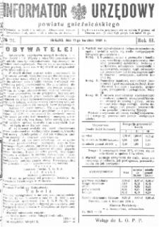 Informator Urzędowy Powiatu Gnieźnieńskiego 1934.04.11 R.83 Nr24