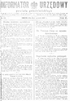 Informator Urzędowy Powiatu Gnieźnieńskiego 1934.09.26 R.83 Nr65