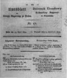 Amtsblatt der Königlichen Regierung zu Posen. 1822.04.23 Nro.17