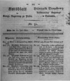 Amtsblatt der Königlichen Regierung zu Posen. 1822.07.30 Nro.31