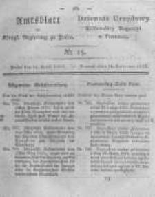 Amtsblatt der Königlichen Regierung zu Posen. 1823.04.15 Nro.15